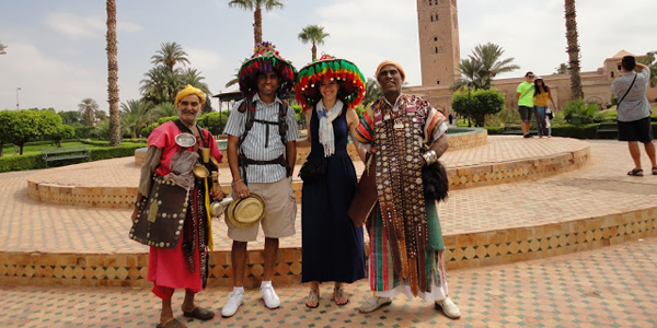 Having fun in Morocco