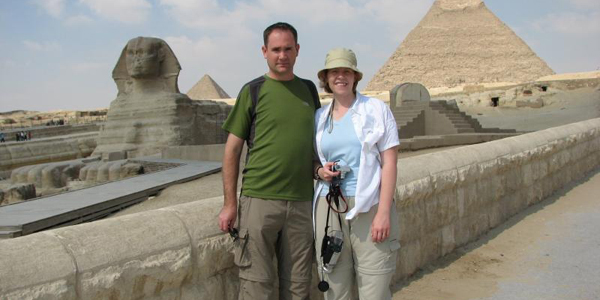 Visiting Giza, Egypt
