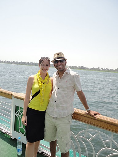 Vishal and Tina on board the Nile Cruise