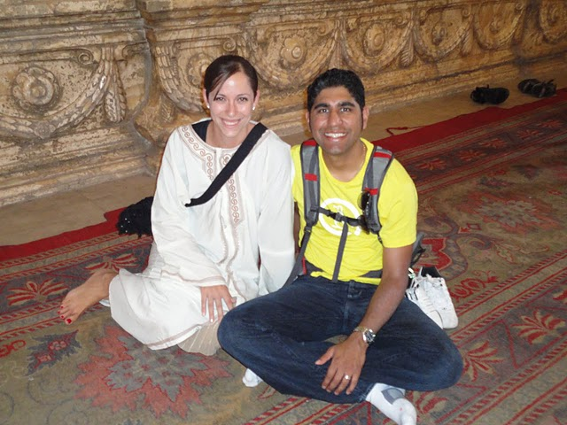 Vishal and Tina at the Alabaster Mosque in Cairo On their Honeymoon in Egypt and Morocco