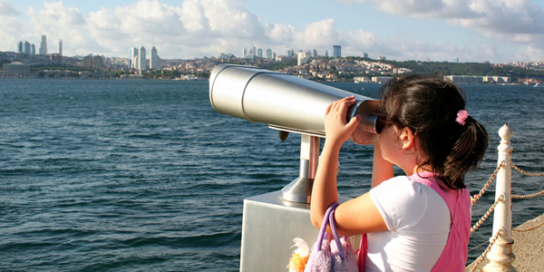 Looking at Istanbul, Turkey