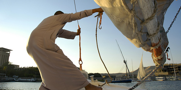 Sailing on the Nile in a Felucca